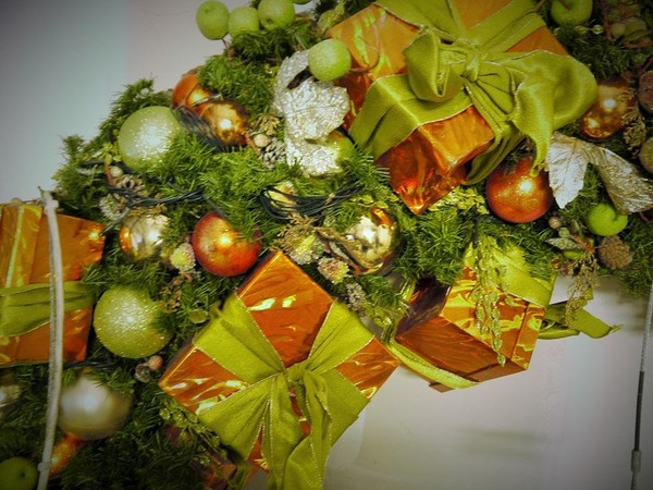 Green and gold Christmas Decorations