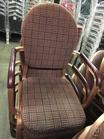 Gold Frame Burgundy Patterned Chairs