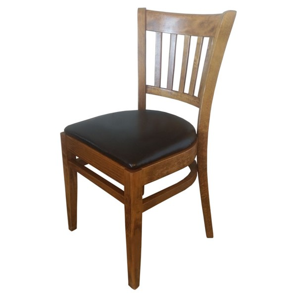Used Houston Restaurant Chairs with Reupholstered Seat (Code MF2580)