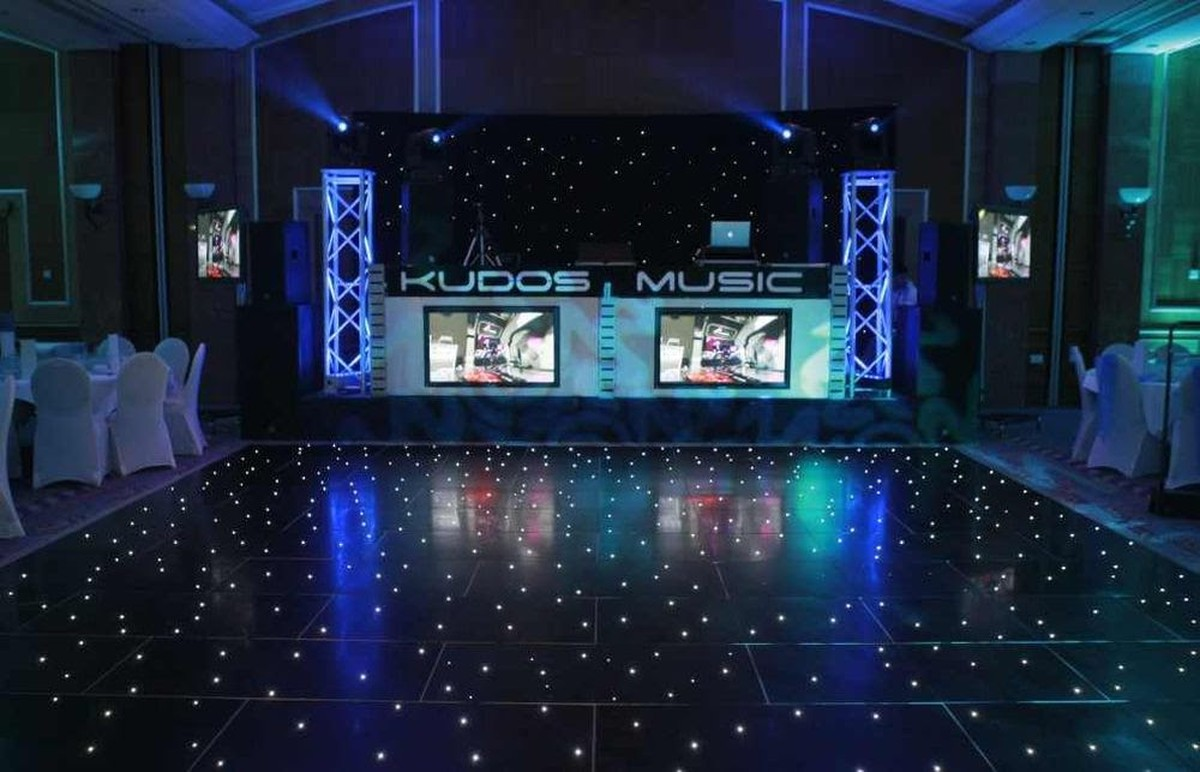Curlew Secondhand Marquees Dance Floor Black Led
