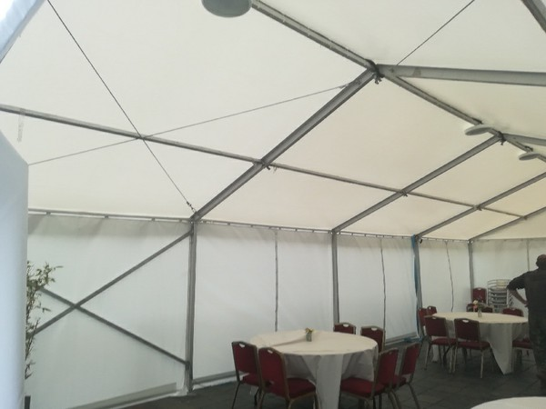 18m x 6m framed marquee for sale