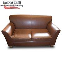 Brown Leather Sofa (Ref: RHC1942) - Warrington, Cheshire