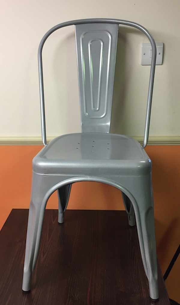 Retro Silver Metal Chair