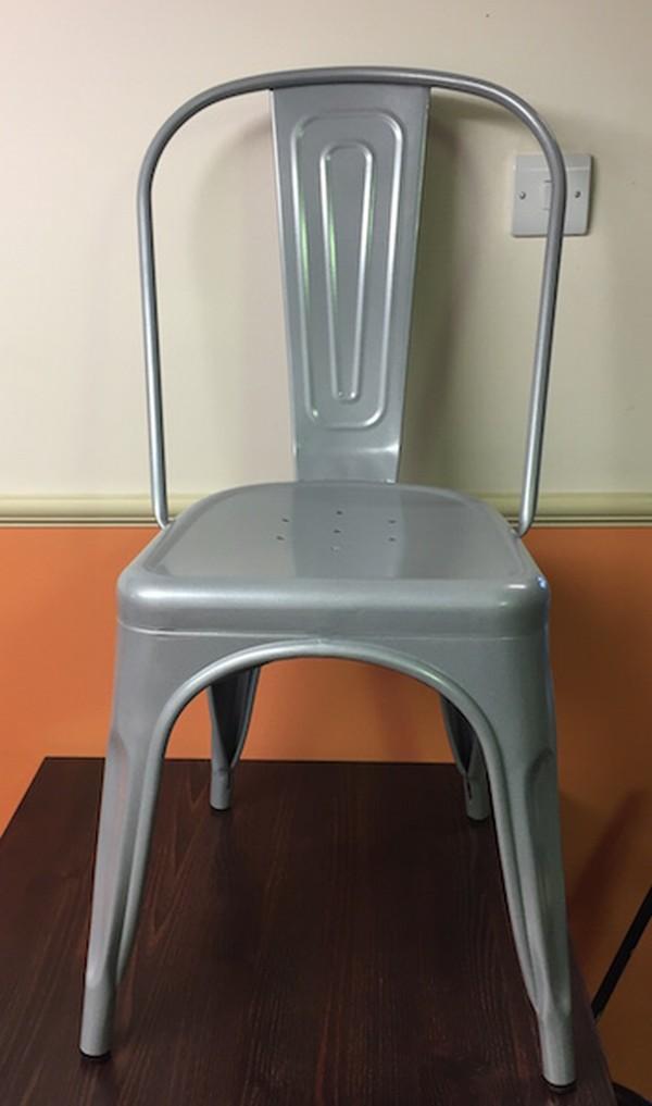 Retro Silver Metal Chair