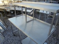 Stainless Steel Table With Gantry Shelf (4146)
