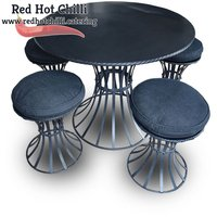 Black Round Tables & Stools Sets x2 (Ref: RHC1908) - Warrington, Cheshire