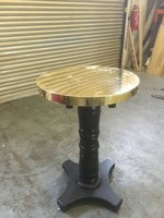 Brass Top Poseur Tables