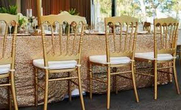 ex hire chiavari or napoleon chairs