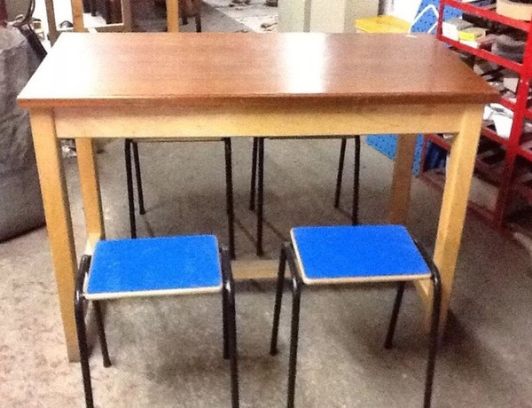 Vintage / Retro Laboratory Tables Teak / Iroko Bistro / Pub / Bar / Restaurant