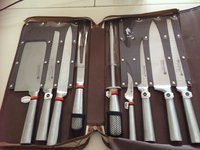 Waltmann Und Sohn 9 Piece Chefs Knife Set In Carrying Case