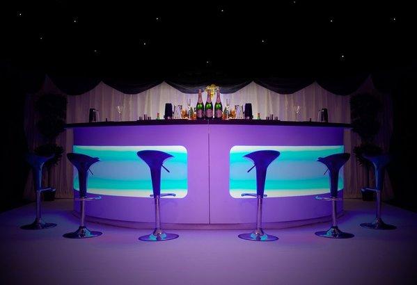 Round LED Portable Bar