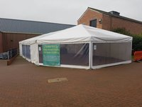 Marquee 10m x 17m with Half Hex End