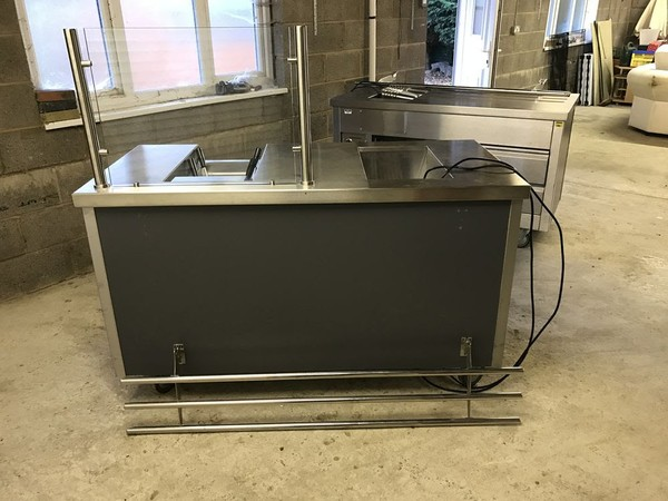 Hot Cupboard/Servery with 1/1GN Bain Marie and Drop-in Lincat Pasta Boiler