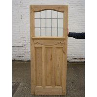 1930 Edwardian Stained Glass Exterior Door / Interior Door