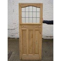 1930 Edwardian Stained Glass Exterior Door / Interior Door