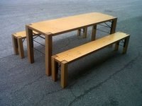 3 Folding Tables and 6 Benches