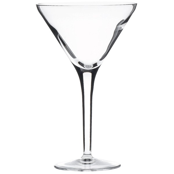 Italian crystal cocktail, Martini, V glasses