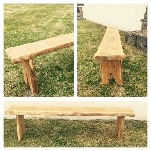 Handmade Rustic Oak Benches