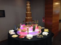 Chocolate fountain with led surrounds