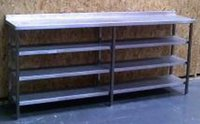 Stainless Steel 4x Shelf Counter Table