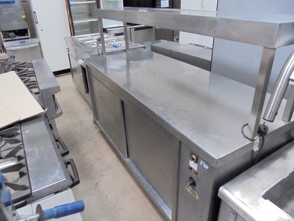 Stainless Steel Hot Cupboard With Heated Gantry (4203)