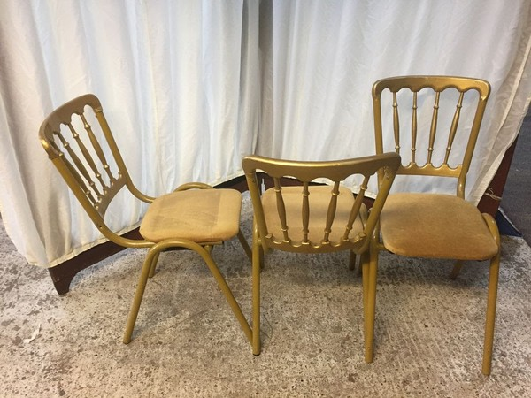 Gold Gilt Metal Wedding Chairs