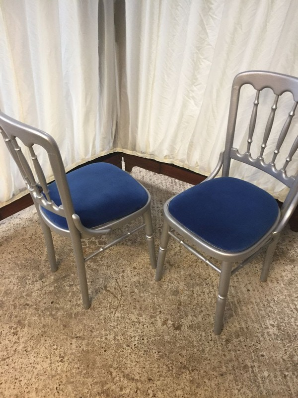 160x Wooden Silver Brentwood Chairs