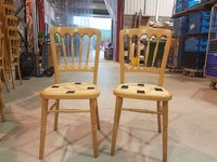 170x Natural Wood Banqueting Chairs