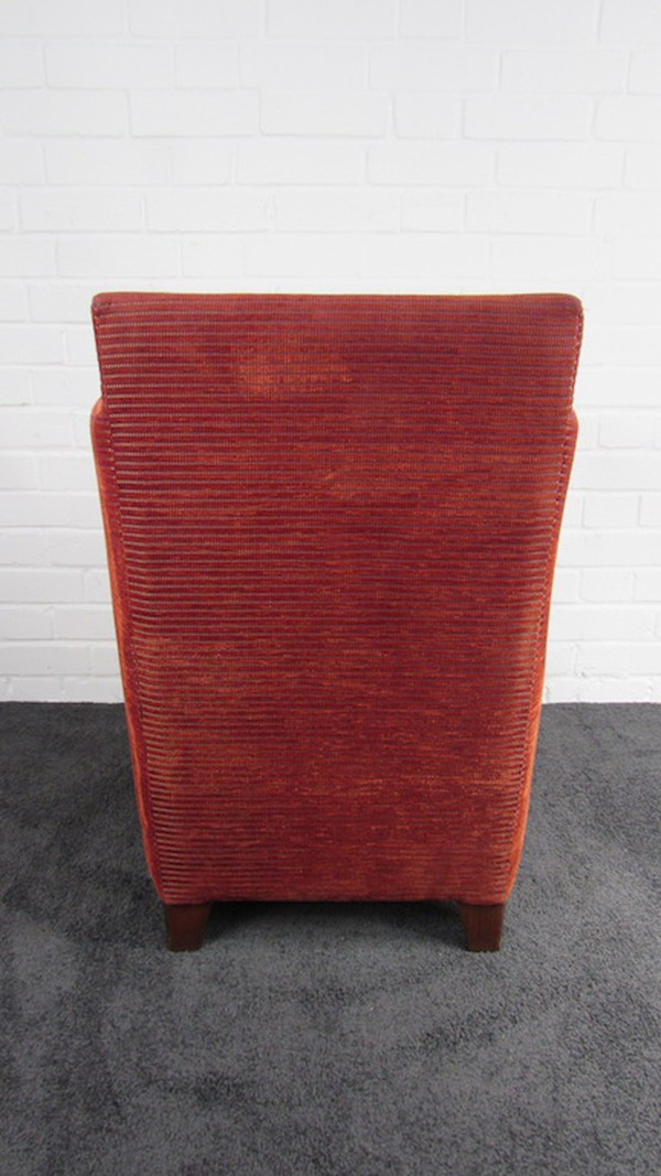 Knightsbridge Furniture Red Fabric Armchair