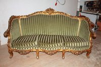 Antique / Vintage Ornate French Gilt Chaise Longue
