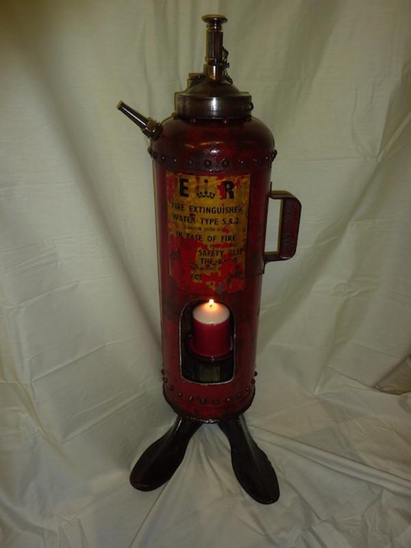 Repurposed Vintage fire extinguisher