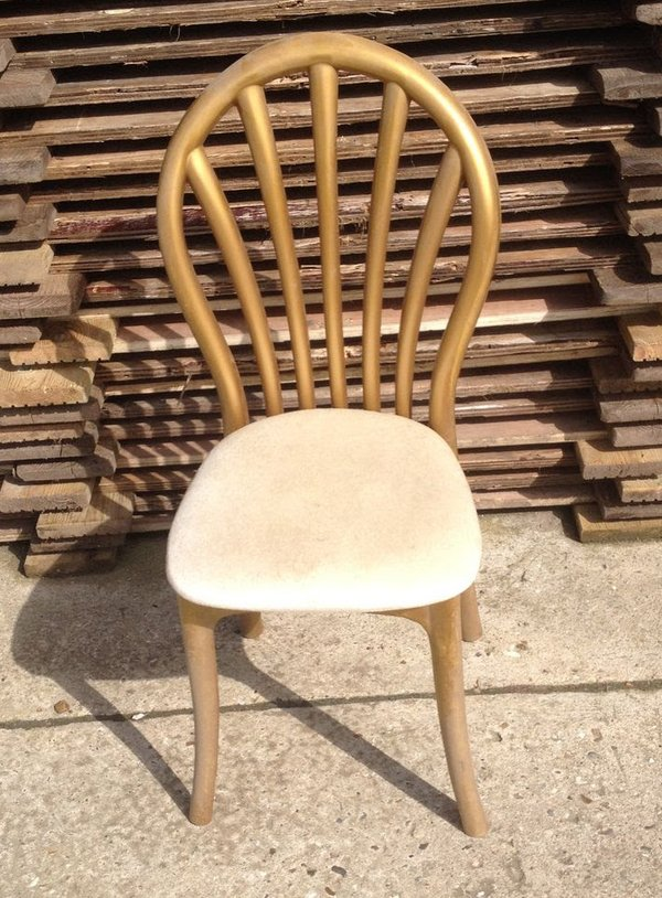 150x Gold Resin Banquet Chairs with Pads