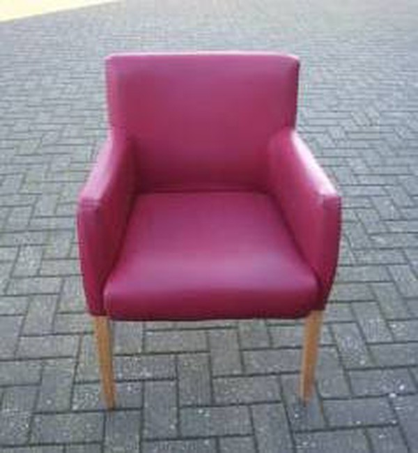 20 x Tub Style Armchairs in Red Faux Leather