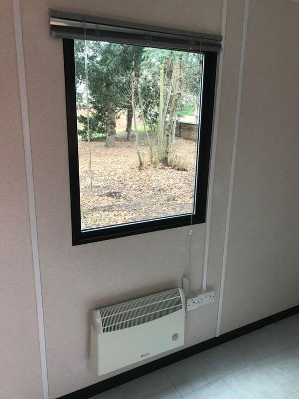 12ft x 9ft Plastisol Portable Office / Site Office / Crew Office
