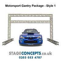 Race Start and Finish Line Truss Gantry System Style 1 - H3m x W4m