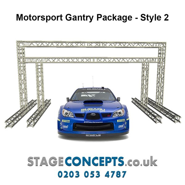 Race Start and Finish Line Truss Gantry System Style 1 - H3m x W6m