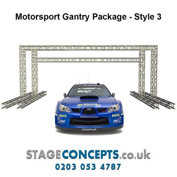 Race Start and Finish Line Truss Gantry System Style 1 - H4m x W8m