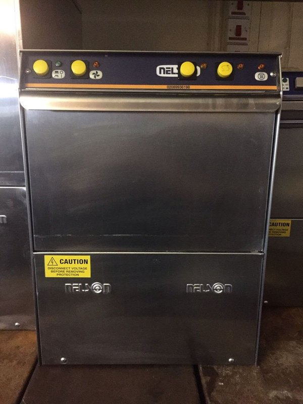 Nelson SC35 W/S Glasswasher 350mm Basket
