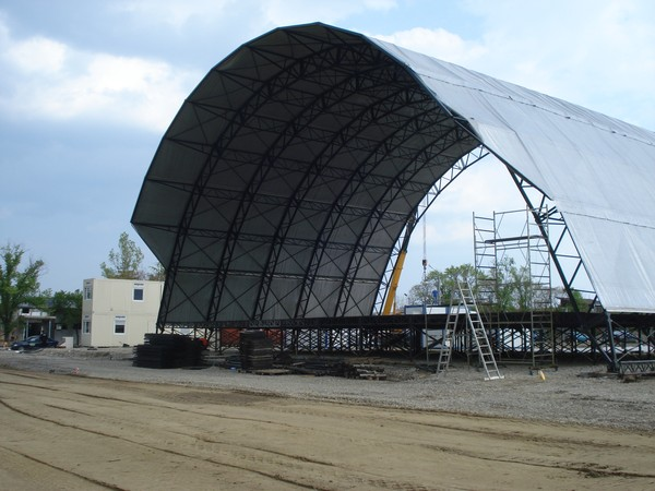 30m wide stage cover