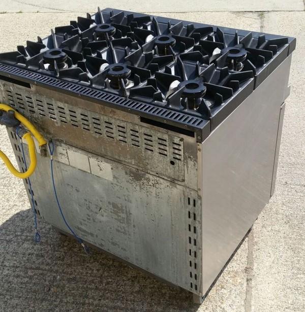 6 Burner Gas Commercial Range Oven