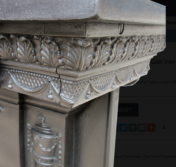 Urn & Ribbon Cast Iron Surround