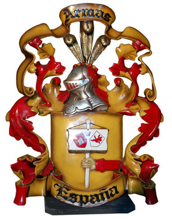 Freestanding Medieval shield / coat of arms prop
