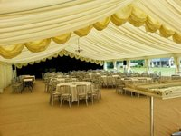 Reveal Curtain for 12m Clearspan Marquee in Ivory, Custom Covers