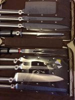 Waltmann & Sohnn Chefs 9 Piece Knife Set In Carrying Case New