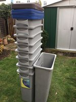 Rubbermaid Slim Jim Bin 60 Litre with Lids