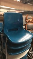 43 Blue Plastic Stacking Chairs