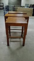 3 No High Solid Hard Wood Drinks Tables