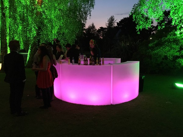Circular LED Bar Counter Sections (Lumaform)