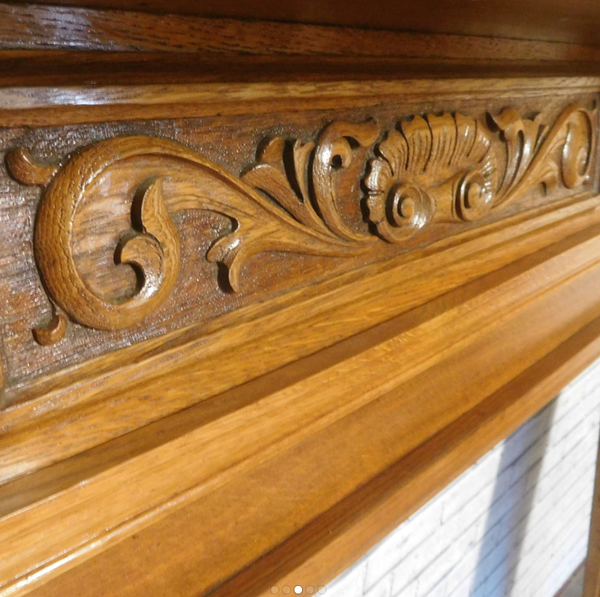 Carved Freeze Edwardian Oak Surround