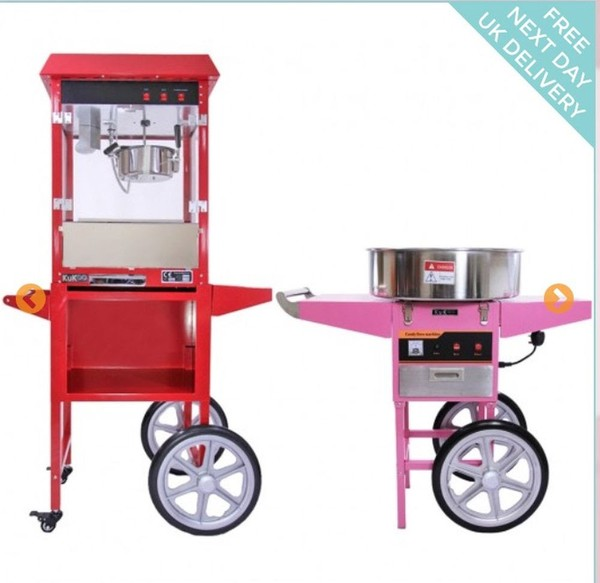 candy floss machine and popcorn machine